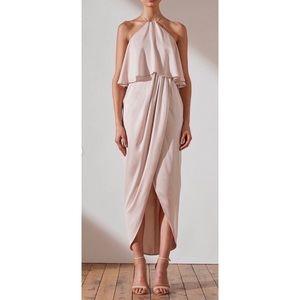 Shona Joy Luxe Halter Frill Midi Dress